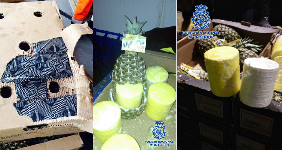 Police seized 200 kilos of cocaine stuffed inside hollowed out pineapples first we feast for Ministerio policia nacional
