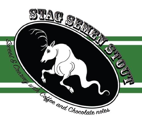 green man stag semen stout