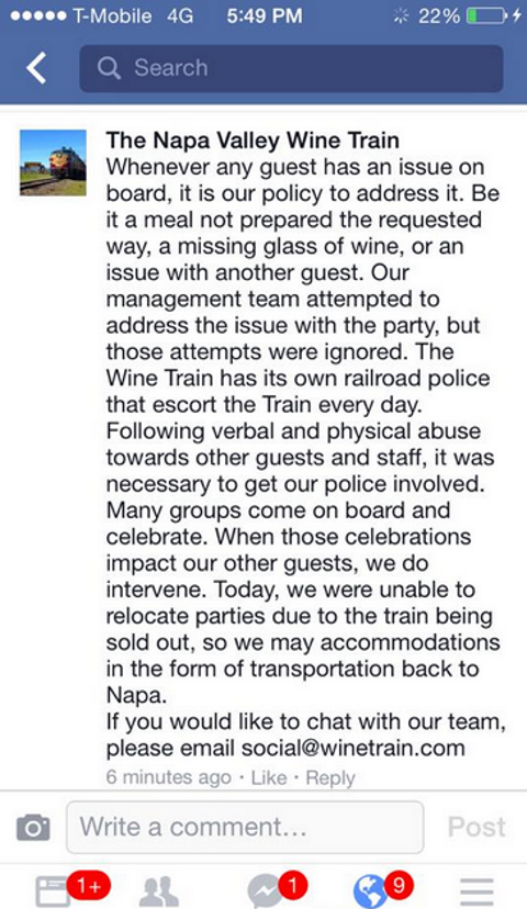 napa wine train fb
