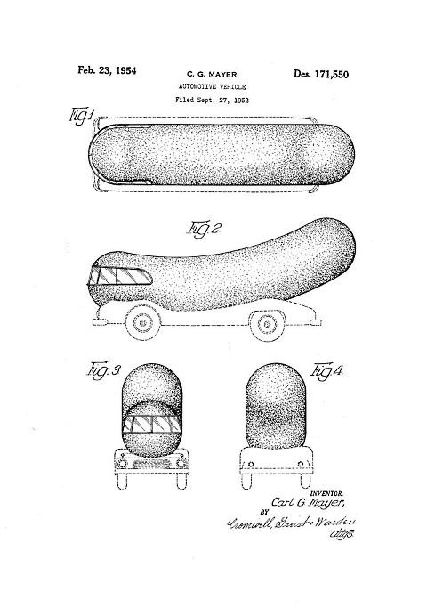 oscar mayer wienermobile patent