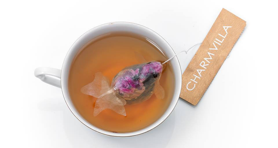 World 39 s coolest tea bags morph into goldfish when placed for Fish tea bags